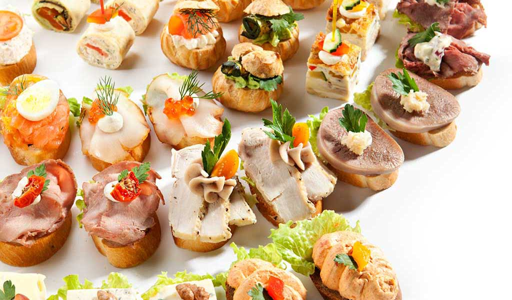 Reception hors d 39 oeuvres rainer 39 s gourmet inspirations for Canape reception